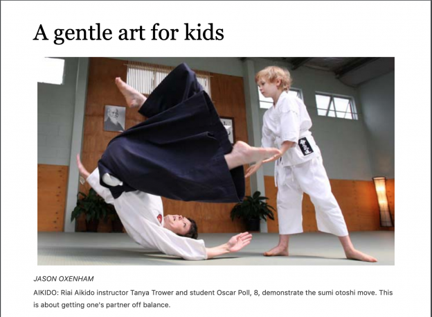 Riai Aikido:A gentle art for kids – Jason Oxenham