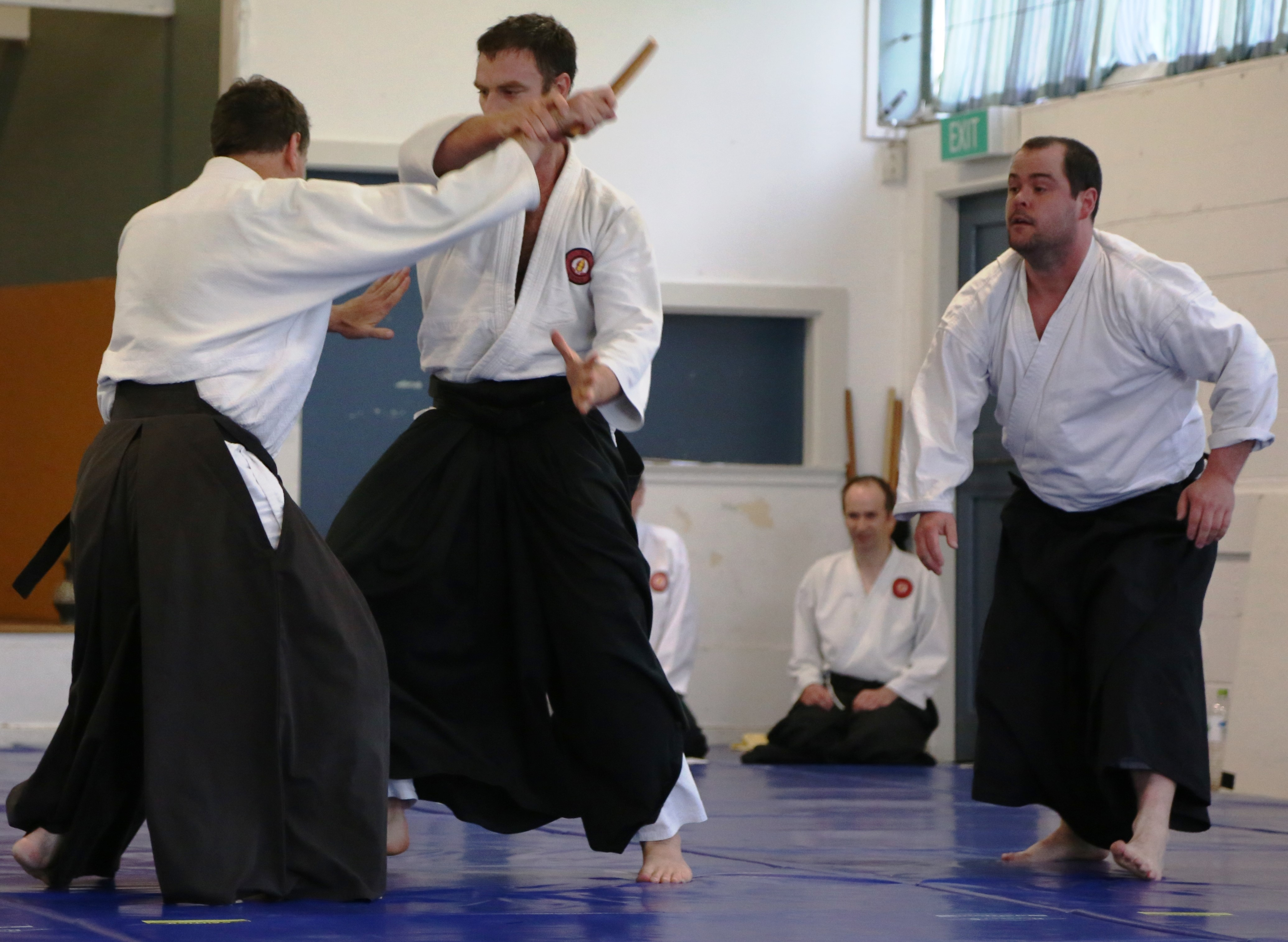 Yudansha in action at Belmont Dojo